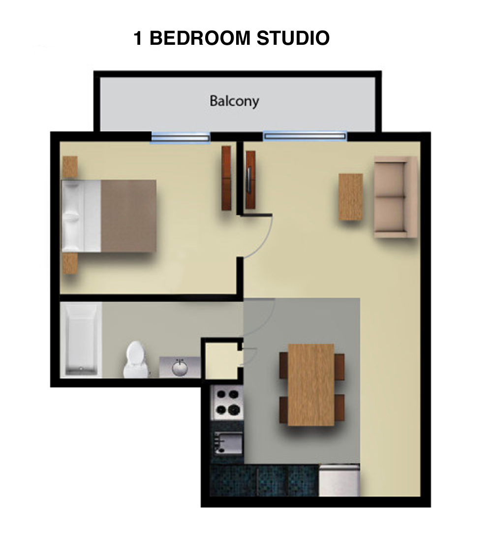 Studio 1 Bedroom Apartments: Studio Vs One Bedroom